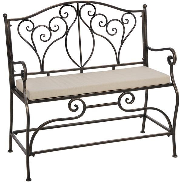 iron occasional bench garden furniturebenchesrangeirons