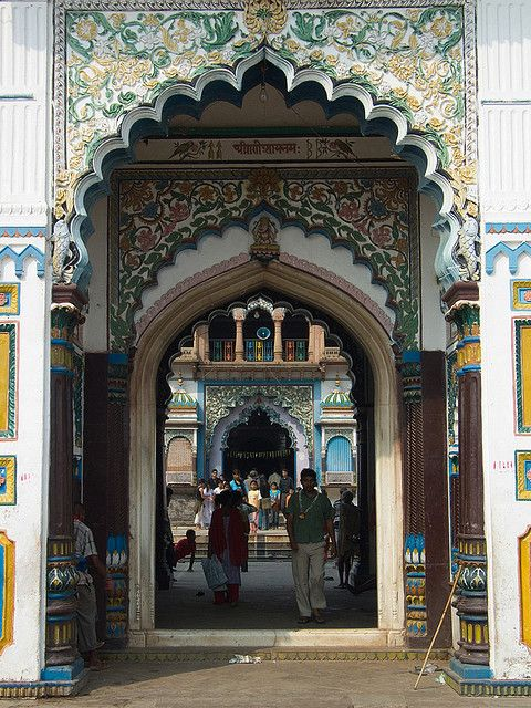 Entrance of the Janaki Temple in Janakpur, Nepal