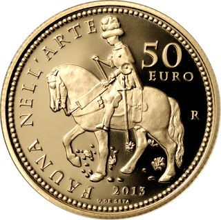 Italy 50 Euro Gold Coin 2013 Renaissance - medal by Pisanello