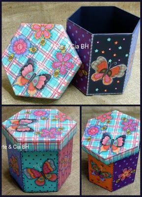 Cajas decoradas con mariposas