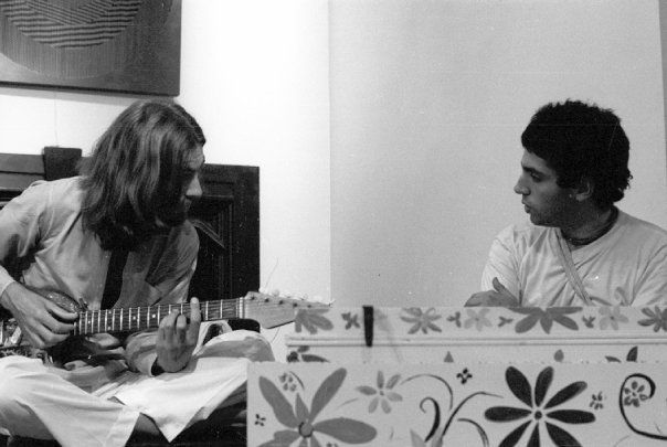 George Harrison recording the Hare Krishna Mantra' in 1969 with members of the London Radha Krishna Temple