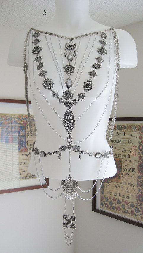 Ornate Silver Body Chain
