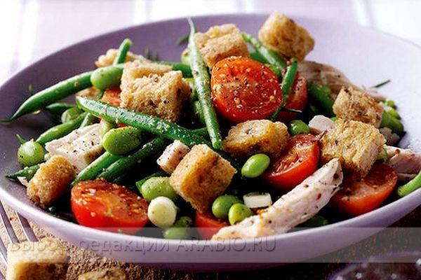 Салат фасоль сухарики рецепт фото