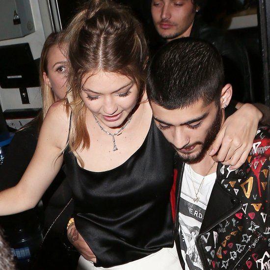 Gigi Hadid and Zayn Malik Leaving Her Birthday Party