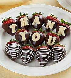Thank You Chocolate Covered Strawberries