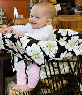 shopping cart cover pattern for babies | Baby Shopping Cart High Chair Cover by Balboa Baby