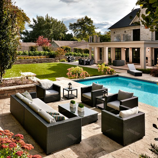 For the third year in a row, BP imaging's outdoor patio furniture photography was featured on the cover of the Costco Online Magazine! #furniture #patio #pool #BurlON #costco #magazine #product