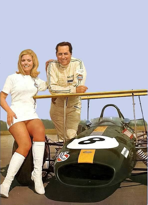 USA Grand Prix 1968 - Jack Brabham & sexy girl-from Eduardo Luis Angelelli