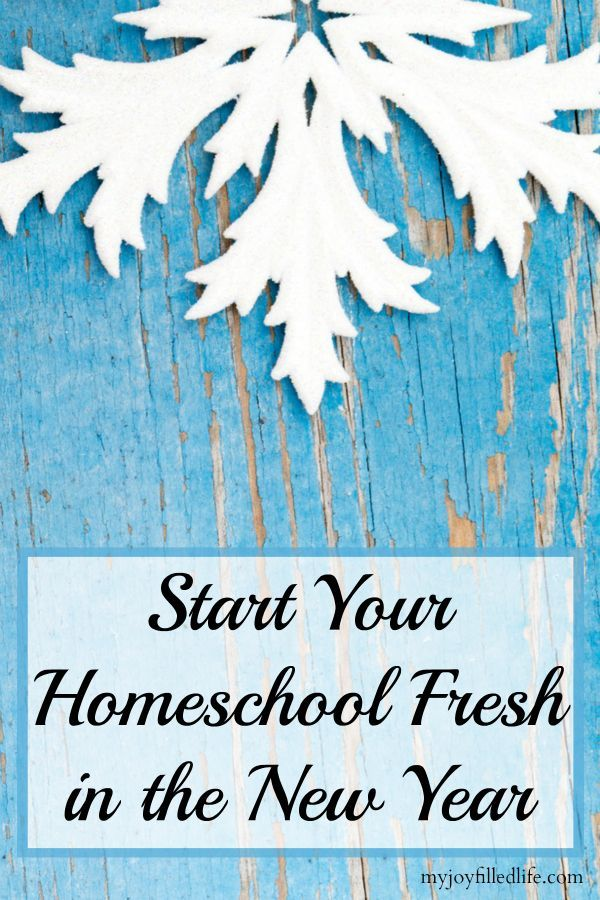 Start Your Homeschool Fresh in the New Year