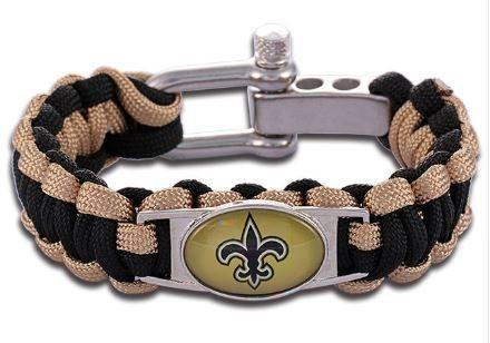 NFL - New Orleans Saints Custom Paracord Bracelet