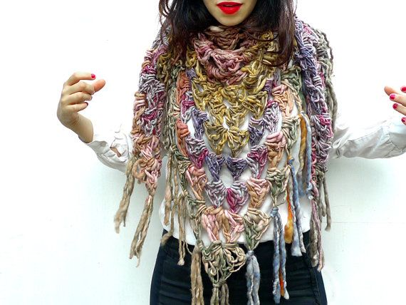 triangular scarf how to wear