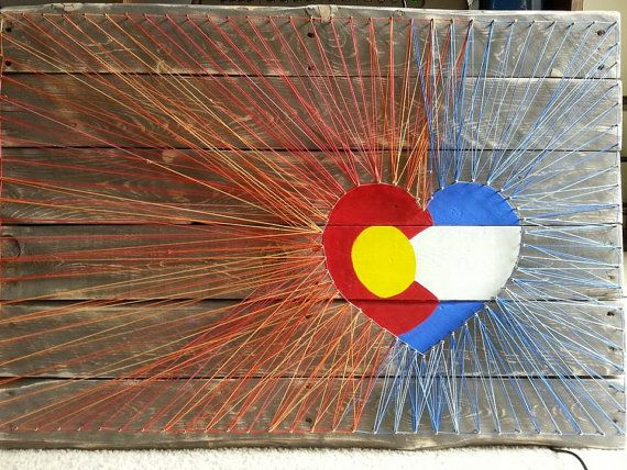 Bursting with Love for Colorado Recliamed String by ANEWPAIGEDECOR, $75.00