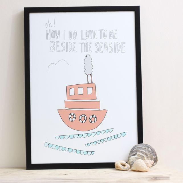 Seaside A3 Giclee Fine Art Print £20.00