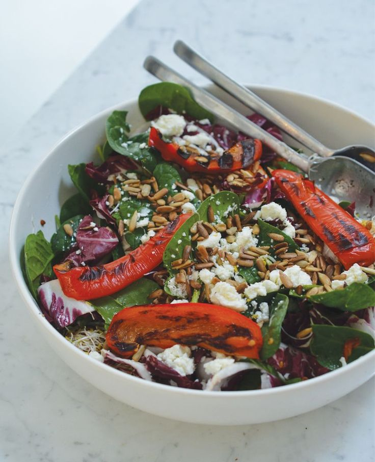 Rens Kroes | Grilled bell pepper salad