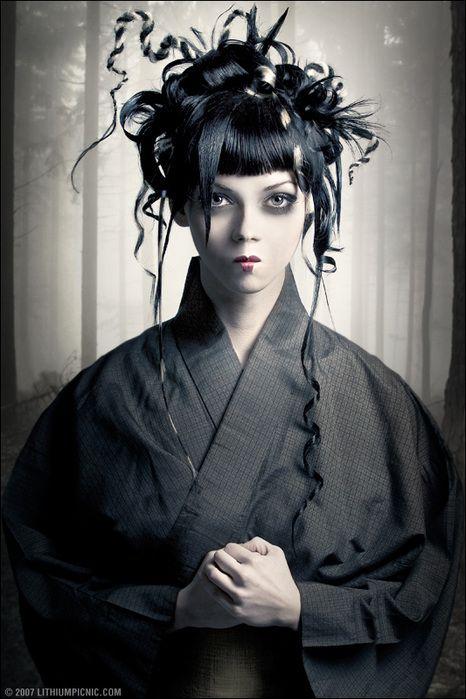 Gothic geisha girl