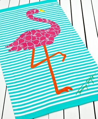 Tommy Hilfiger Flamingo Beach Towel