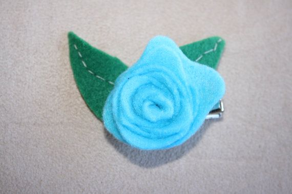 Handmade Felt Rose Clip by RaedianceByJo on Etsy, $5.00