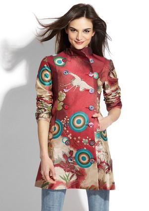 Farb-und Stilberatung mit www.farben-reich.com - DESIGUAL Jazmine Coat (Not the pattern, but the design)