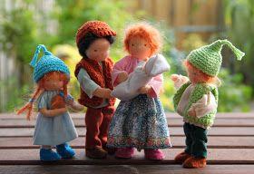 Eline's poppenwereld: Een paar foto's van het eerste gezin