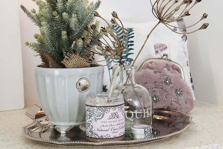 Lene Bjerre - AUTUMN 2013 NATURAL CARE body scrub and NOTILDE flower pot.