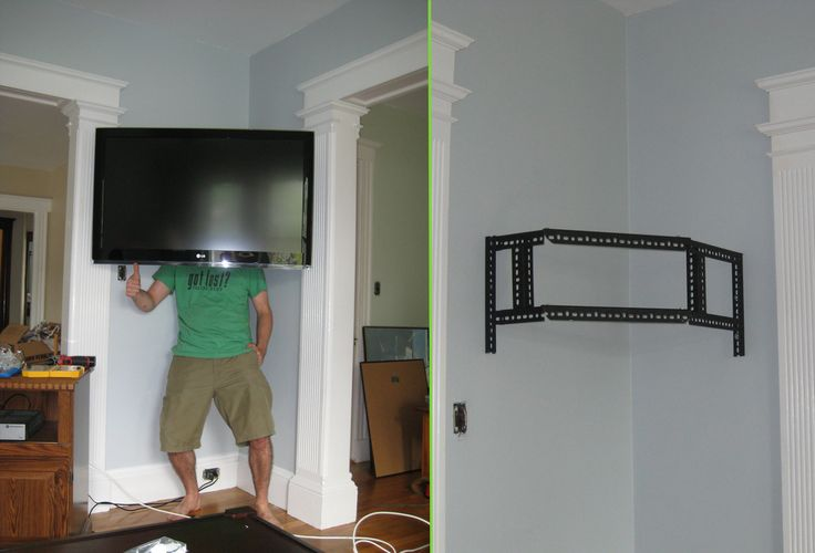Pin By Jo Jago On Corner Wall Mount For Tv Wall Mounted