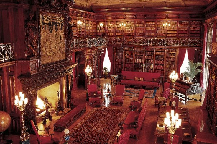 Completely opulent! The library at Biltmore House in Asheville, North Carolina.
