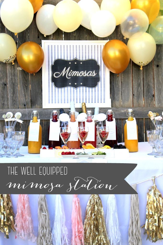 how to put together a mimosa bar drink station
