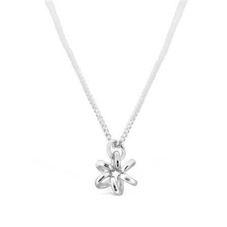 ACHICA | Maree London Daisy Flower Necklace, Silver