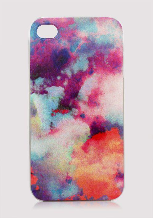 #Chicwish Rainbow Cloudscape Mobile Phone Case - Goods - Retro, Indie and Unique Fashion