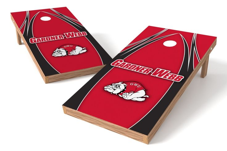 Gardner Webb Running Bulldogs Cornhole Board Set - The Edge