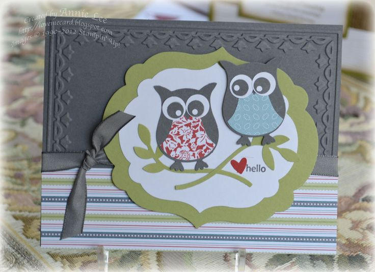 Love to Make Cards: Twittering Owl Again