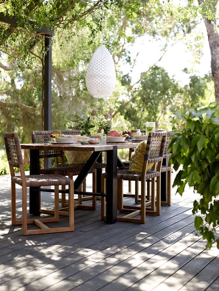 Eco Outdoor Balfour Dining Chairs With Colo Dining Table. Outdoor Furniture  | Livelifeoutdoors | Patio Part 83