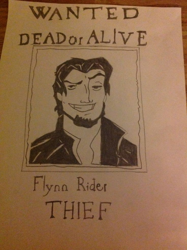 Flynn Rider wanted-poster from Tangled