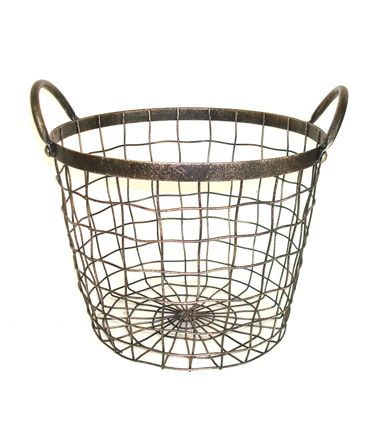 Bloom Room Large Round Metal Wire Basket With Handles $21 (Sale price) - For the living room to store rolled throw blankets or extra throw pillows. You could even store firewood in there and it would look awesome. This piece is so versatile for Autumn and Winter!