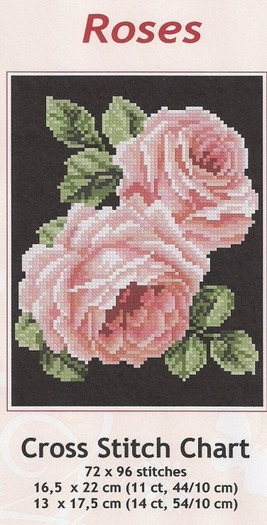 464 besten Sticken ROSEN Bilder auf Pinterest