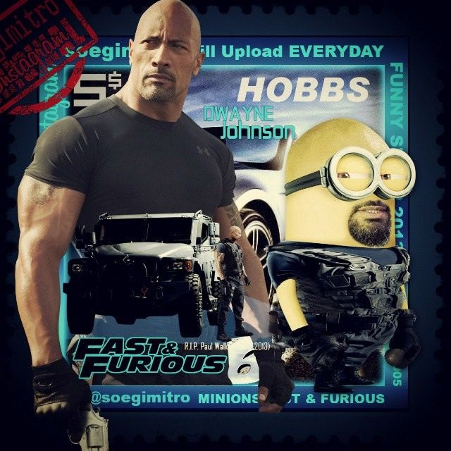 Minion de Dwayne Johnson en Fast