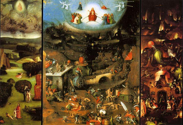 Jérome Bosch, Le Jugement dernier, après 1482, huile sur panneau, 163.7 x 247 cm, Vienne - Académie des Beaux-Arts