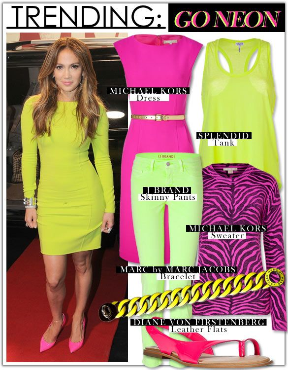 Go Neon!Home Remedies, Neon Clothing, Style, Jlo, Neon Fashion, Beautiful, Neon Colors, Wear, Hair