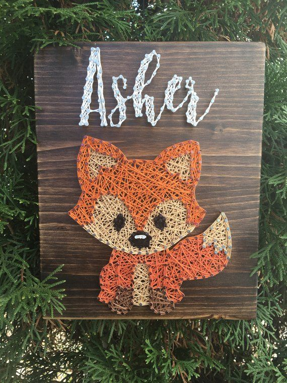 Fox Name String Art Board | Products | String art, String
