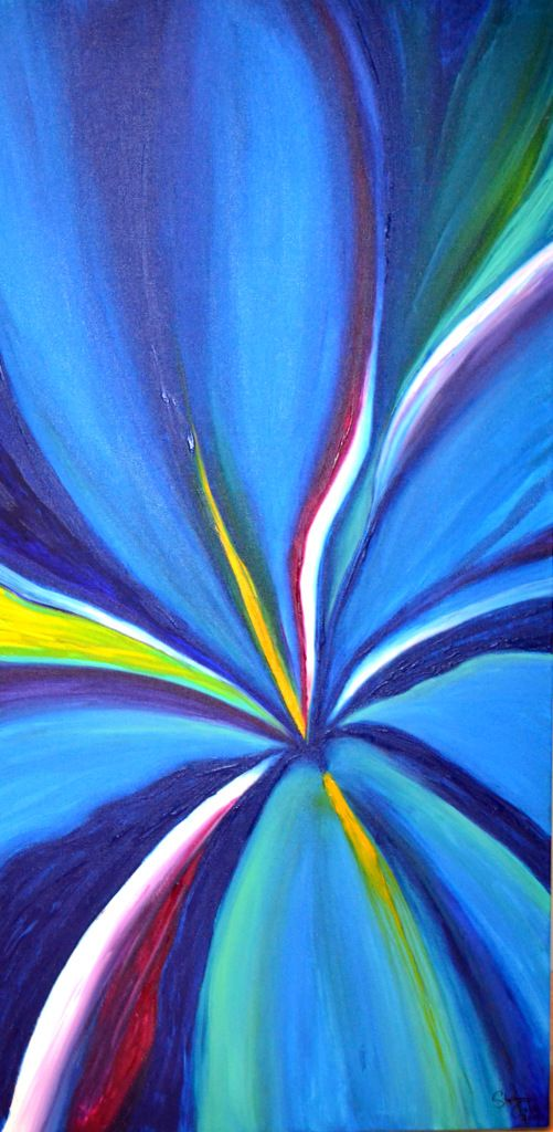 """Iris"" by Stephanie Jack - 24in x 48in - acrylic painting - 2013 - $425"