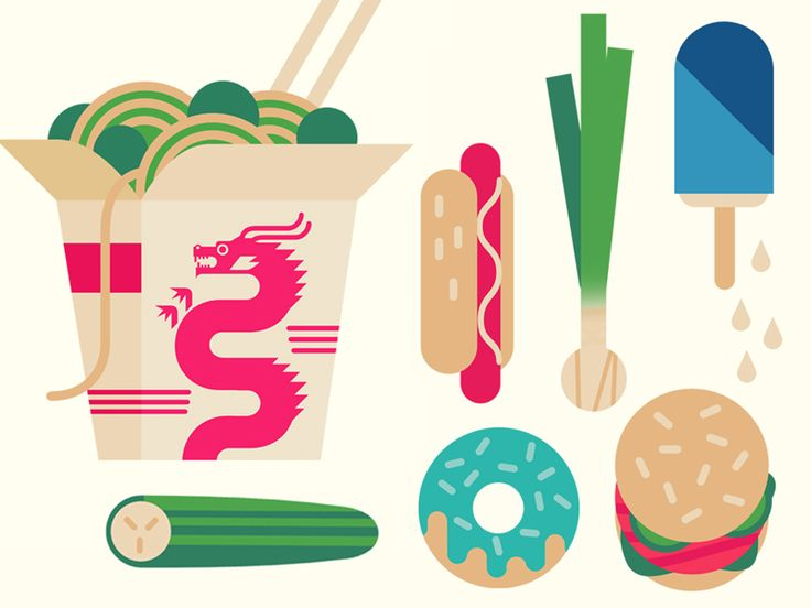 Food #2 by Owen Davey. Illustration