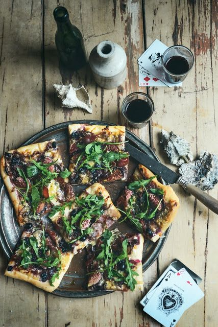 Waiheke Pizza - with Figs, Grapes, Blue Cheese & Prosciutto: From the Kitchen