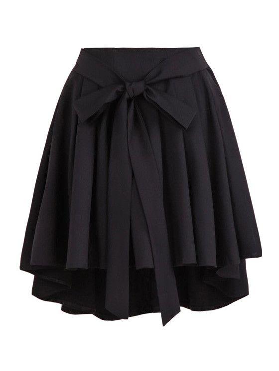 High Waist Pleated Bow Belt Skirt #MYTRENDTWOWARDROBE