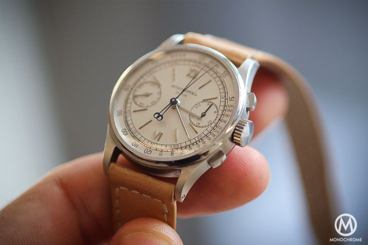 The Patek Philippe 1436 Split Seconds Chronograph Steel from Phillips Auction explained (live photos) - updated with results, Sold 3.3M CHF - Monochrome-Watches