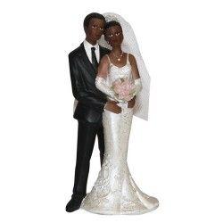 couple de maris antillais figurine noire de mariage et pas chre - Figurine Mariage Humoristique Pas Cher