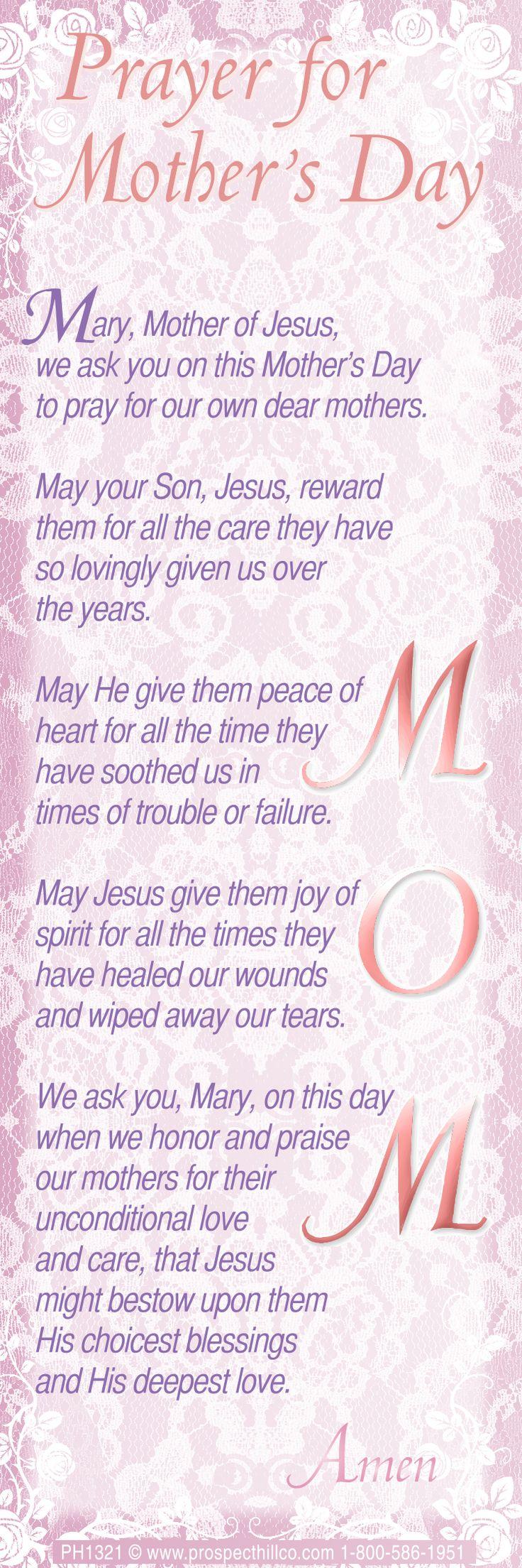 A mothers day prayer   Catholic Faith!   Pinterest ...