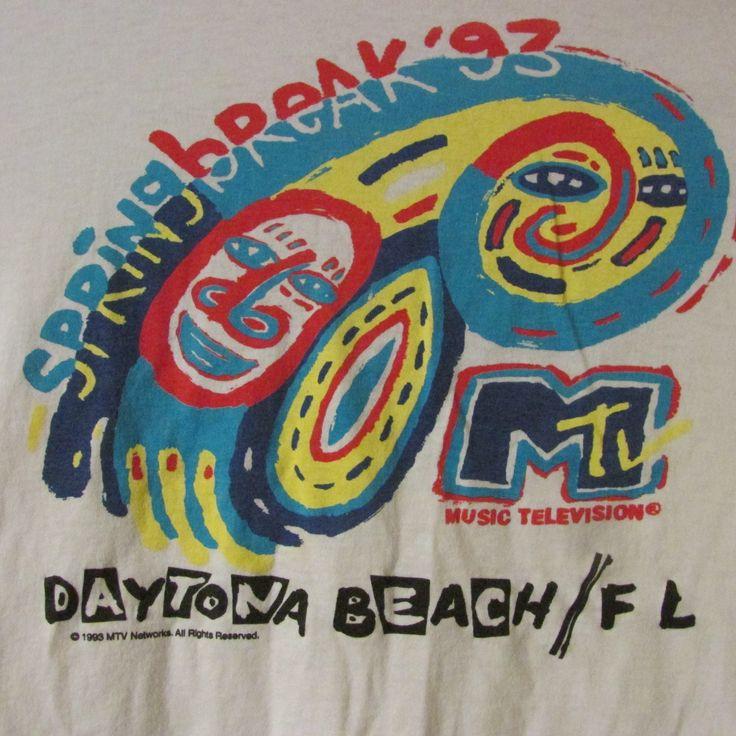 Vintage Mtv Daytona Beach Florida Spring Break 1993 Party