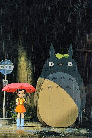 となりのトトロ♪Neighbours Totoro, My Neighbor Totoro Rain, Japan, My Neighbor Totoro Movie, Animee Animal, Art, Things, Miyazaki Movie, Studios Ghibli