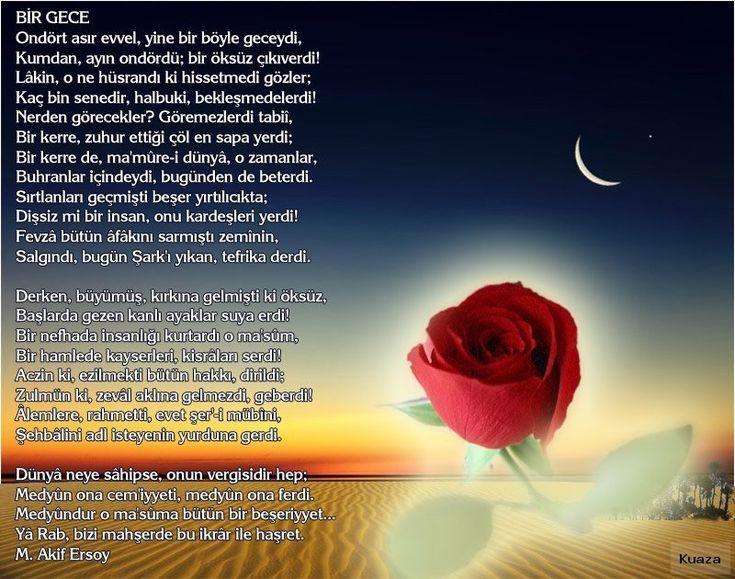 Dini Şiirler..Güllerin efendisi – Resimli en güzel Allah şiirleri