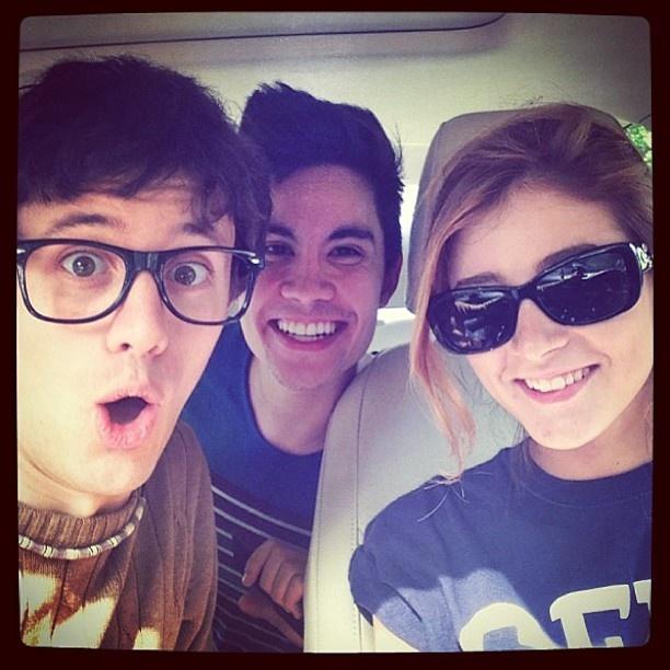 Chrissy with Kurt and Sam tsui